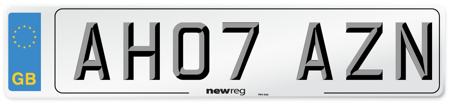 AH07 AZN Number Plate from New Reg