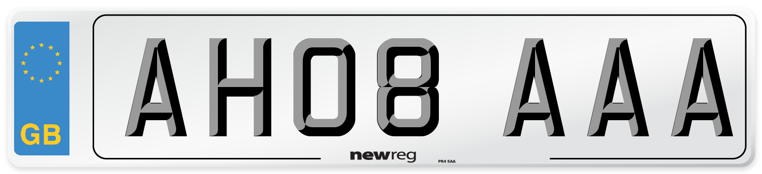 AH08 AAA Number Plate from New Reg