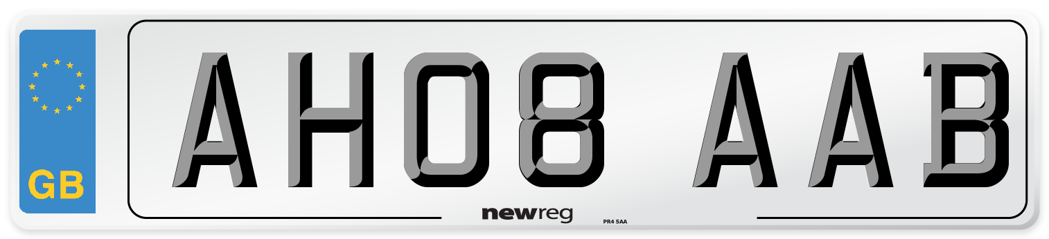 AH08 AAB Number Plate from New Reg