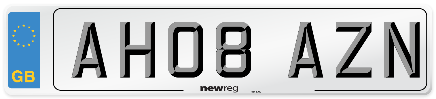 AH08 AZN Number Plate from New Reg
