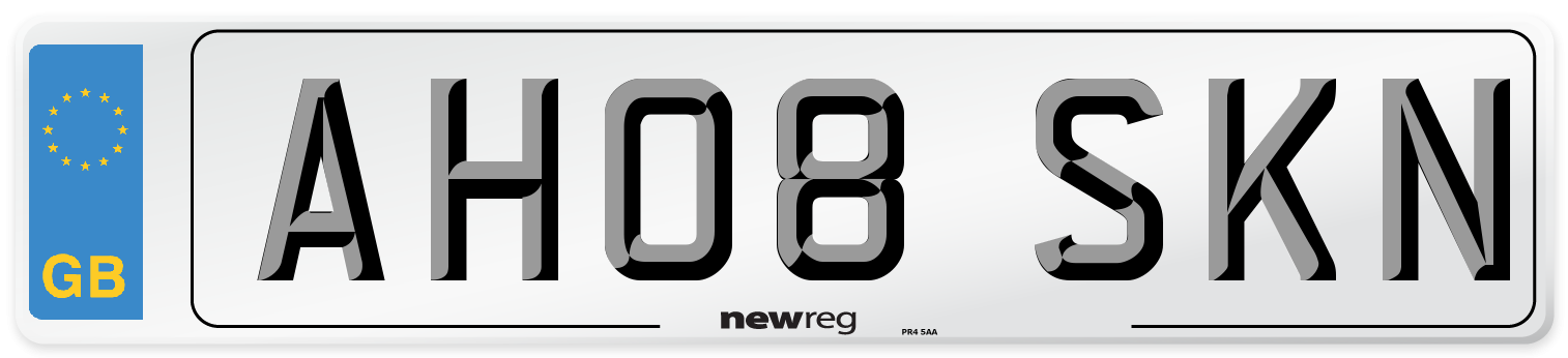 AH08 SKN Number Plate from New Reg