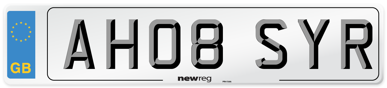 AH08 SYR Number Plate from New Reg