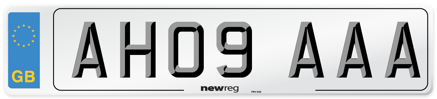 AH09 AAA Number Plate from New Reg