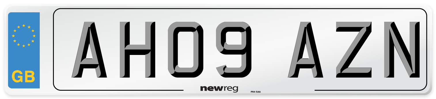 AH09 AZN Number Plate from New Reg