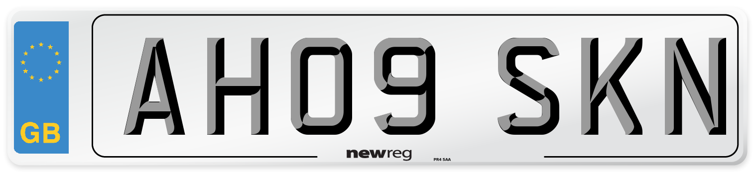 AH09 SKN Number Plate from New Reg