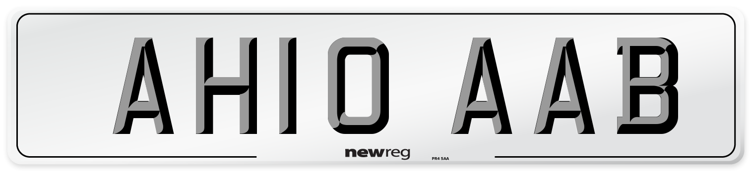 AH10 AAB Number Plate from New Reg