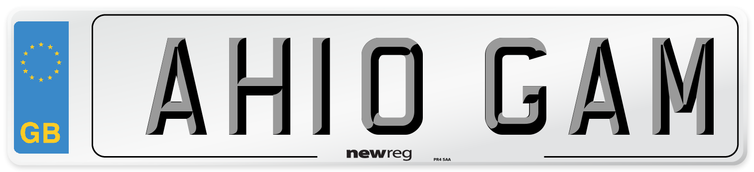 AH10 GAM Number Plate from New Reg