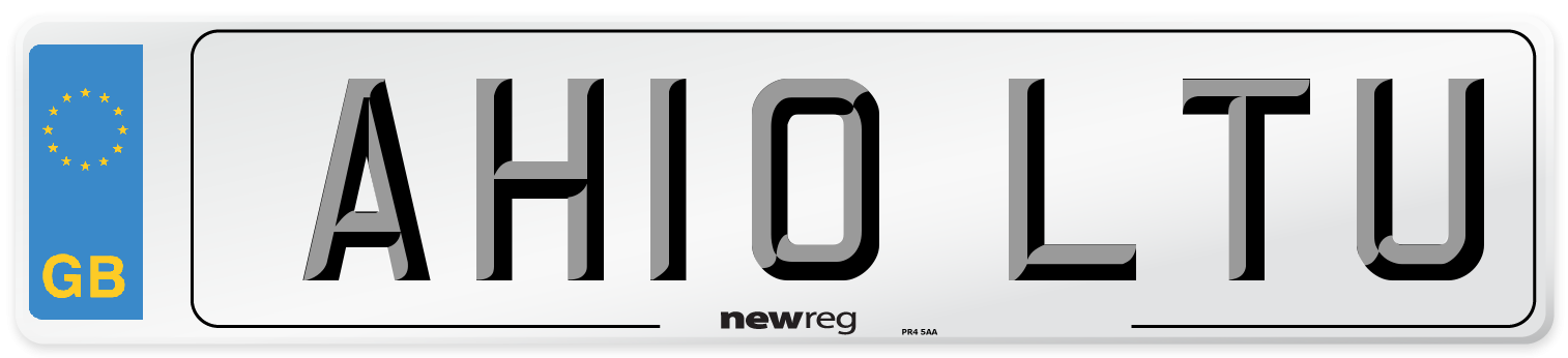 AH10 LTU Number Plate from New Reg