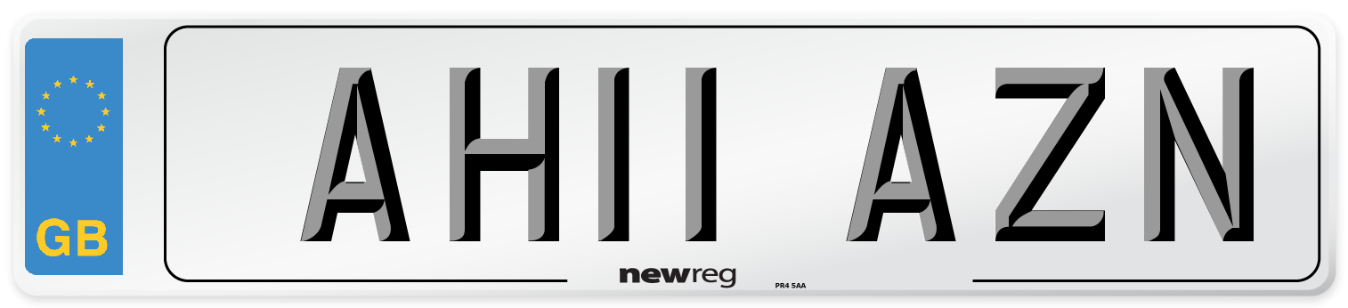 AH11 AZN Number Plate from New Reg