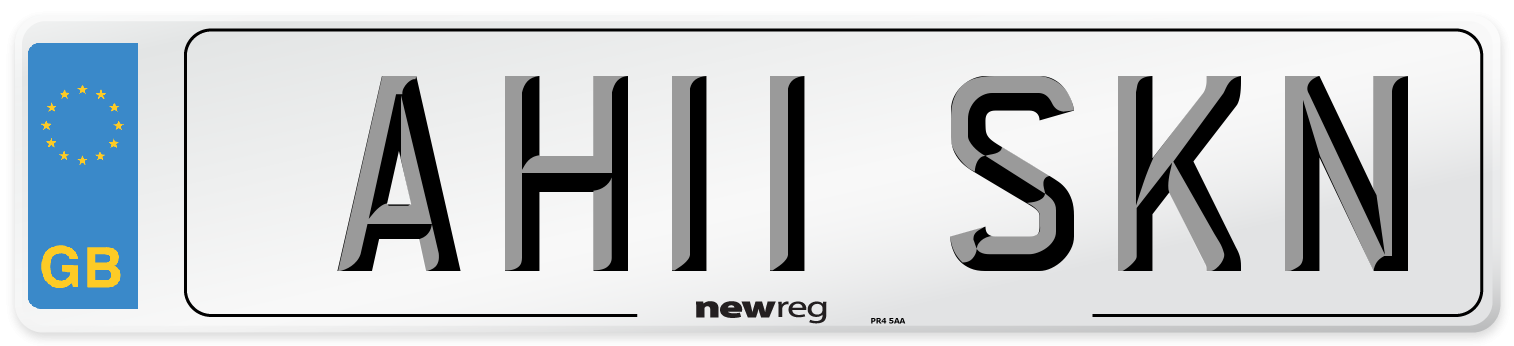 AH11 SKN Number Plate from New Reg