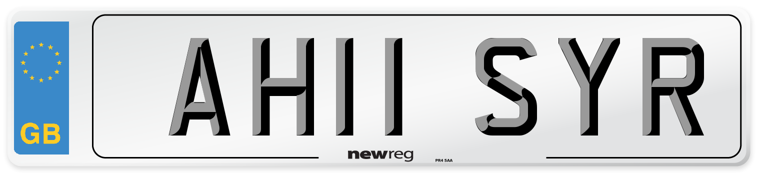 AH11 SYR Number Plate from New Reg