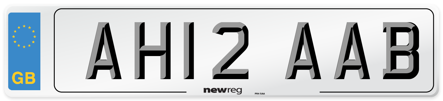 AH12 AAB Number Plate from New Reg