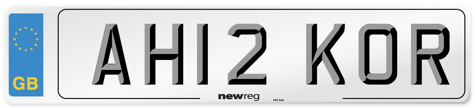 AH12 KOR Number Plate from New Reg
