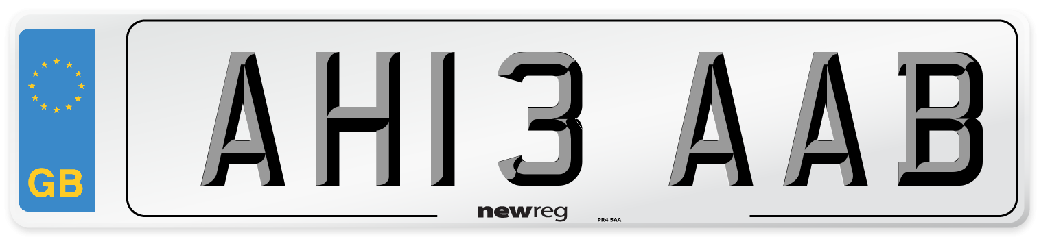 AH13 AAB Number Plate from New Reg