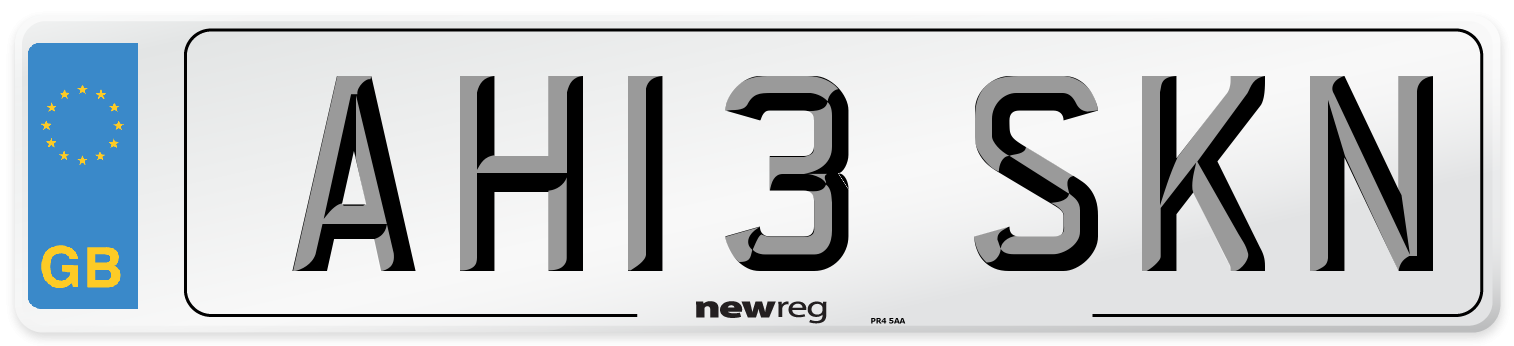 AH13 SKN Number Plate from New Reg
