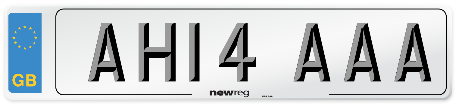 AH14 AAA Number Plate from New Reg