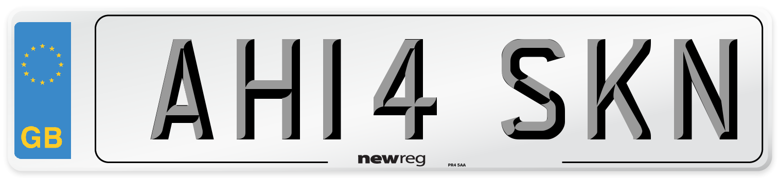 AH14 SKN Number Plate from New Reg