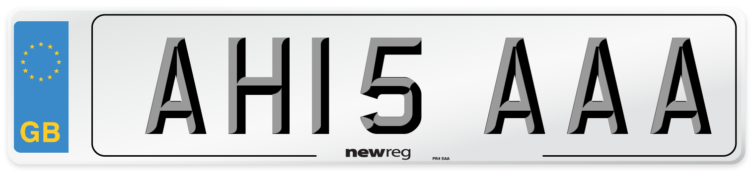 AH15 AAA Number Plate from New Reg