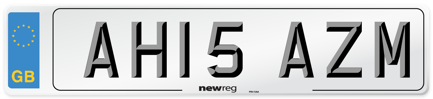 AH15 AZM Number Plate from New Reg