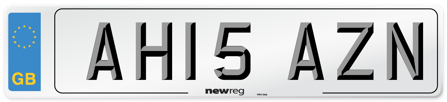 AH15 AZN Number Plate from New Reg