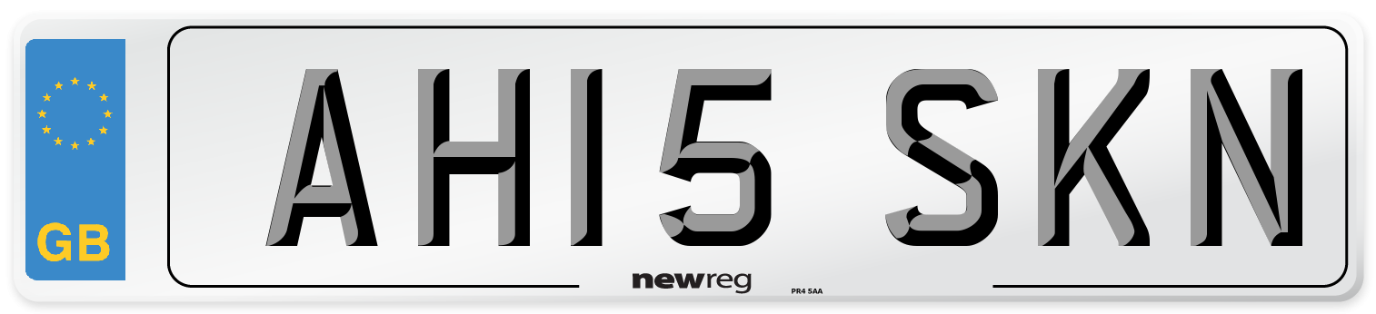 AH15 SKN Number Plate from New Reg