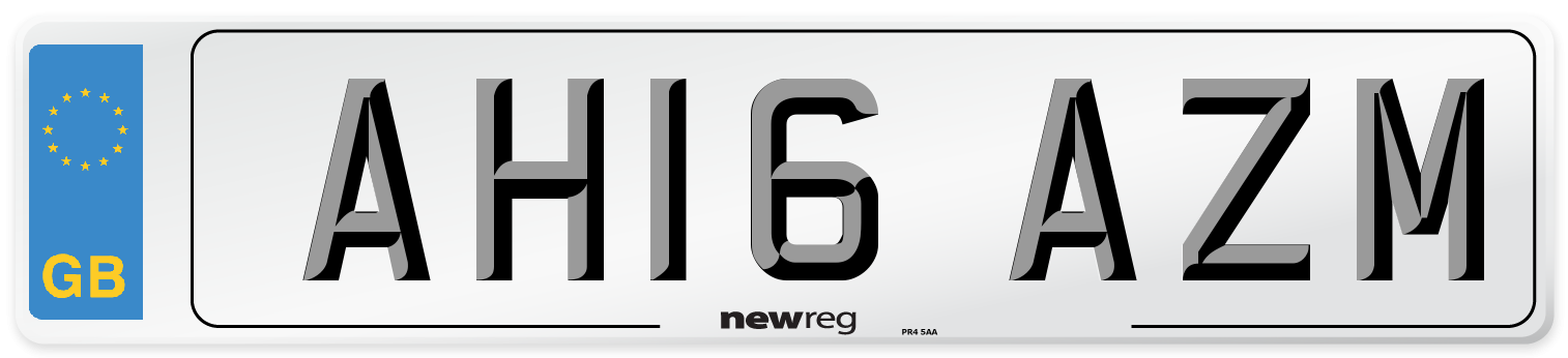 AH16 AZM Number Plate from New Reg