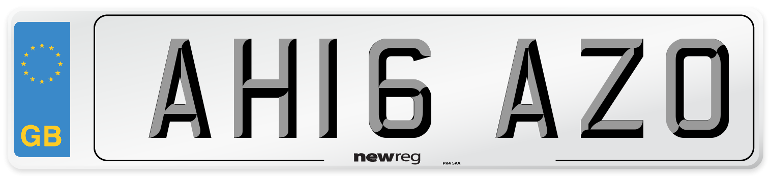 AH16 AZO Number Plate from New Reg