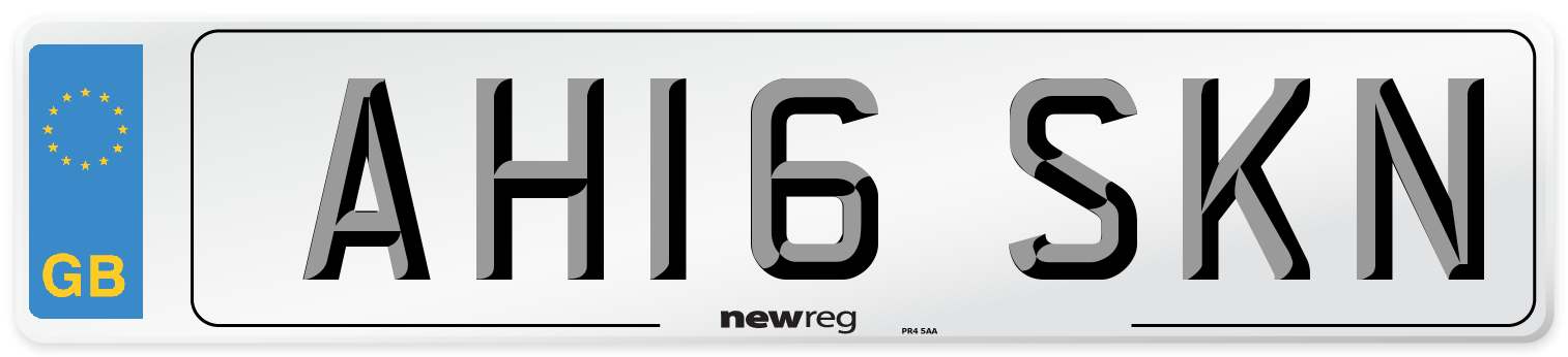 AH16 SKN Number Plate from New Reg