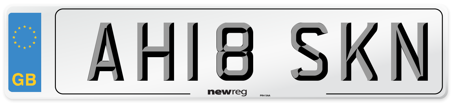 AH18 SKN Number Plate from New Reg