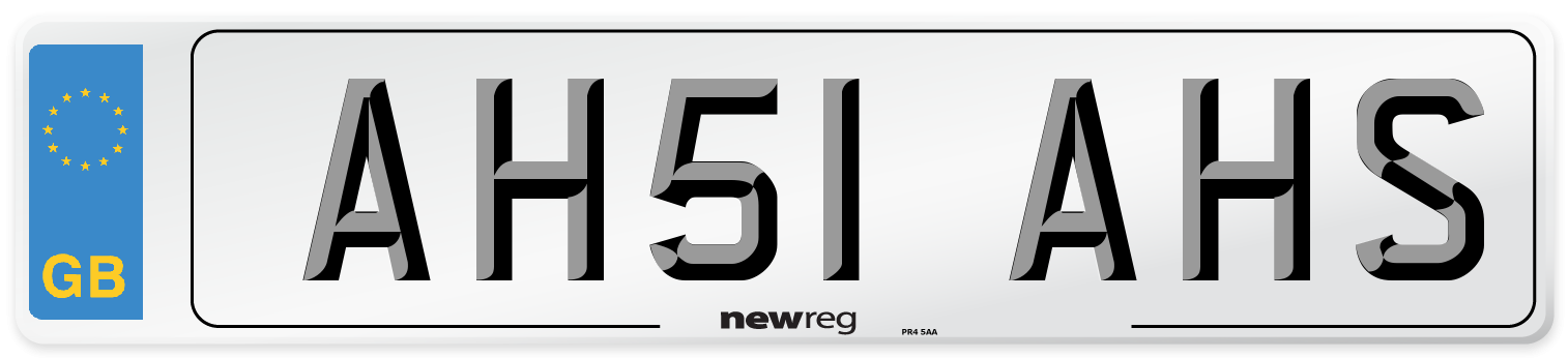 AH51 AHS Number Plate from New Reg
