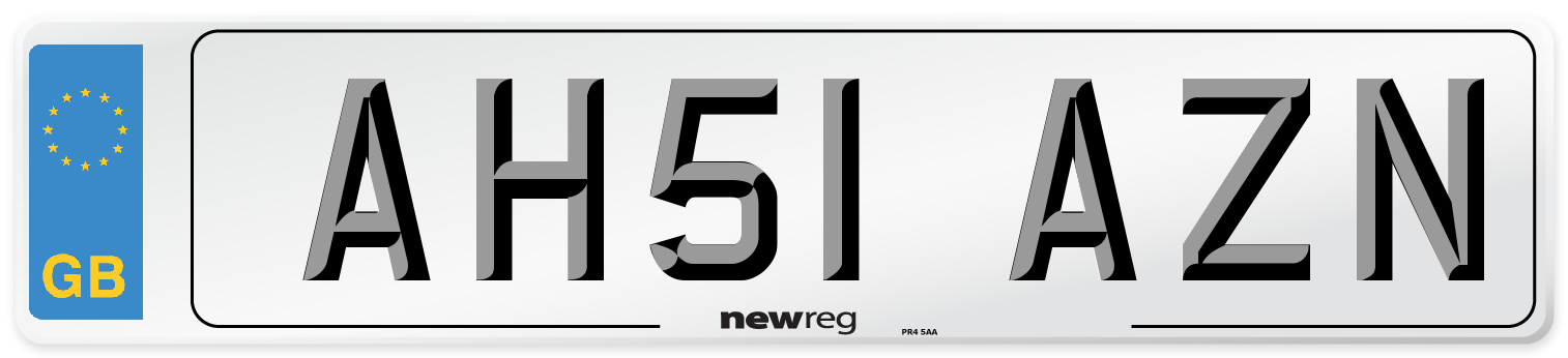 AH51 AZN Number Plate from New Reg