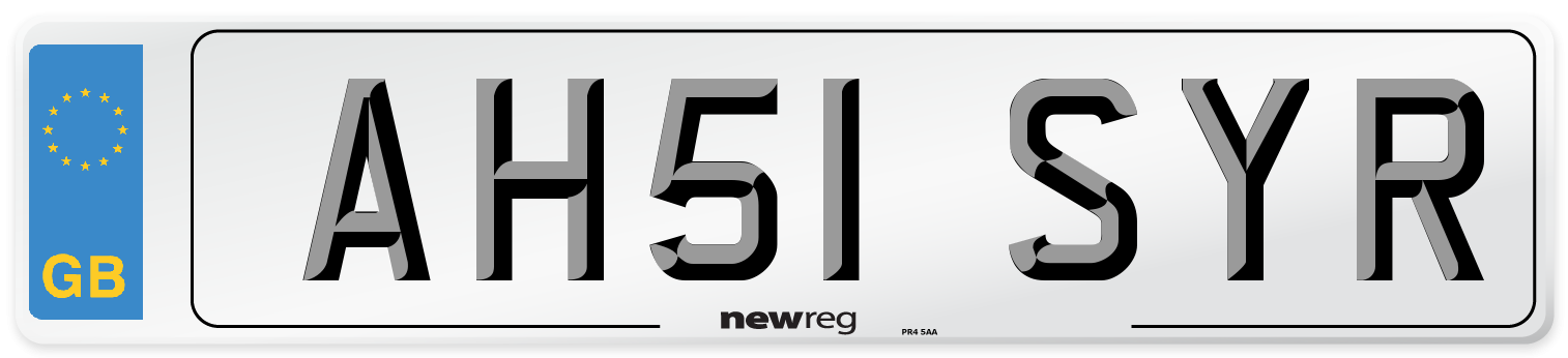 AH51 SYR Number Plate from New Reg