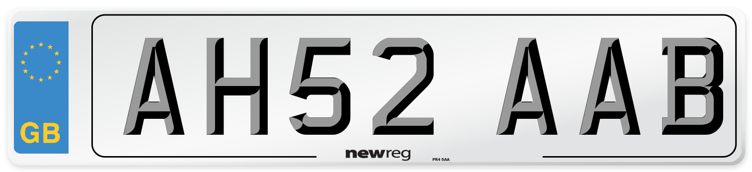 AH52 AAB Number Plate from New Reg