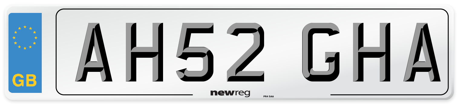 AH52 GHA Number Plate from New Reg