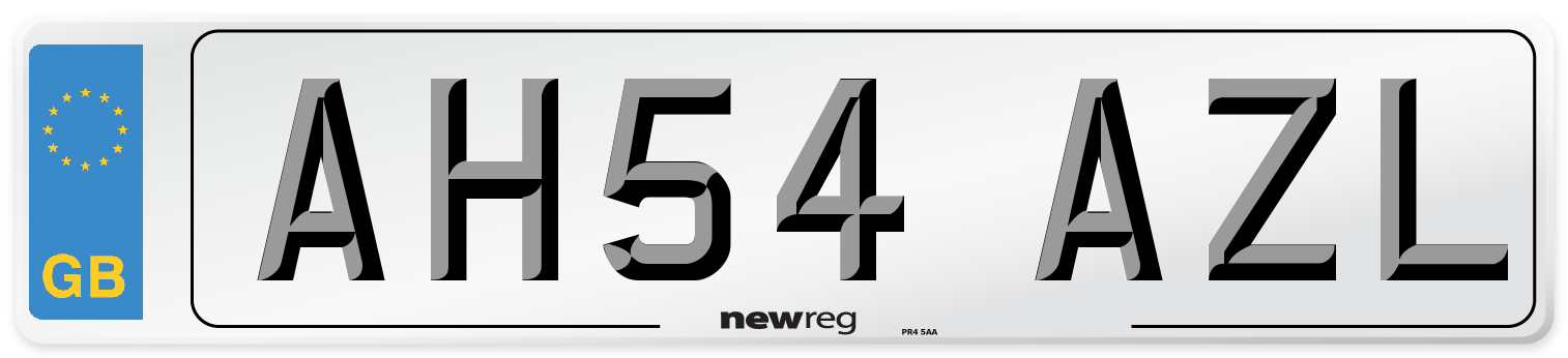 AH54 AZL Number Plate from New Reg