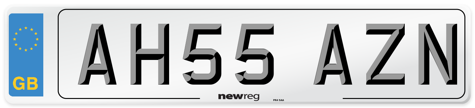AH55 AZN Number Plate from New Reg
