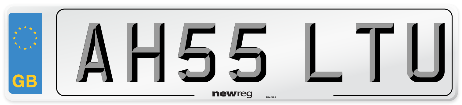 AH55 LTU Number Plate from New Reg