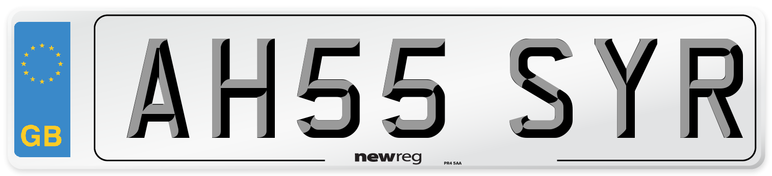 AH55 SYR Number Plate from New Reg