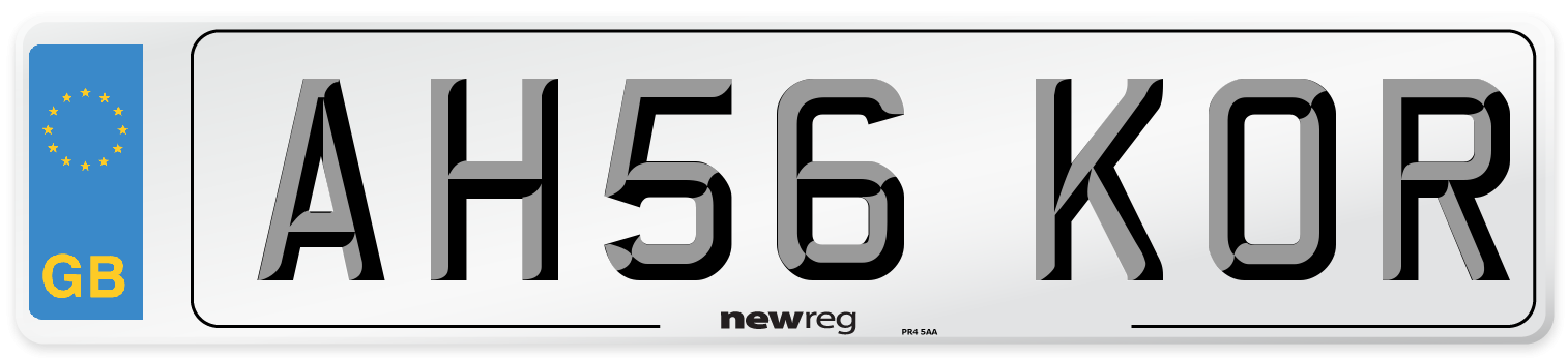 AH56 KOR Number Plate from New Reg