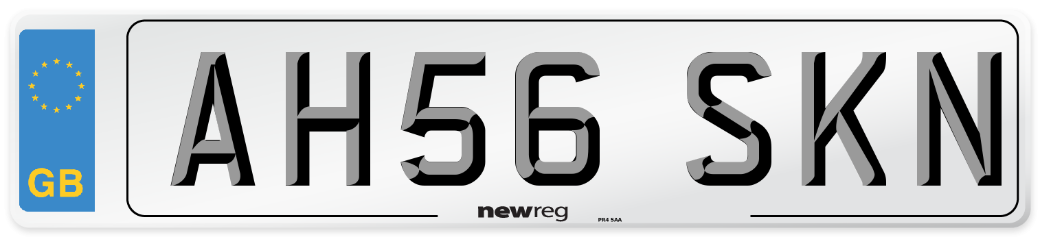 AH56 SKN Number Plate from New Reg