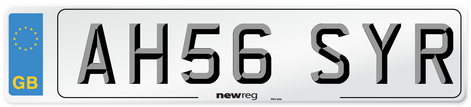 AH56 SYR Number Plate from New Reg
