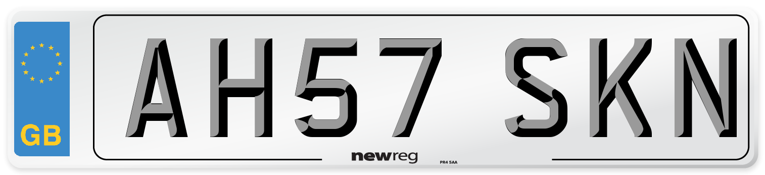 AH57 SKN Number Plate from New Reg