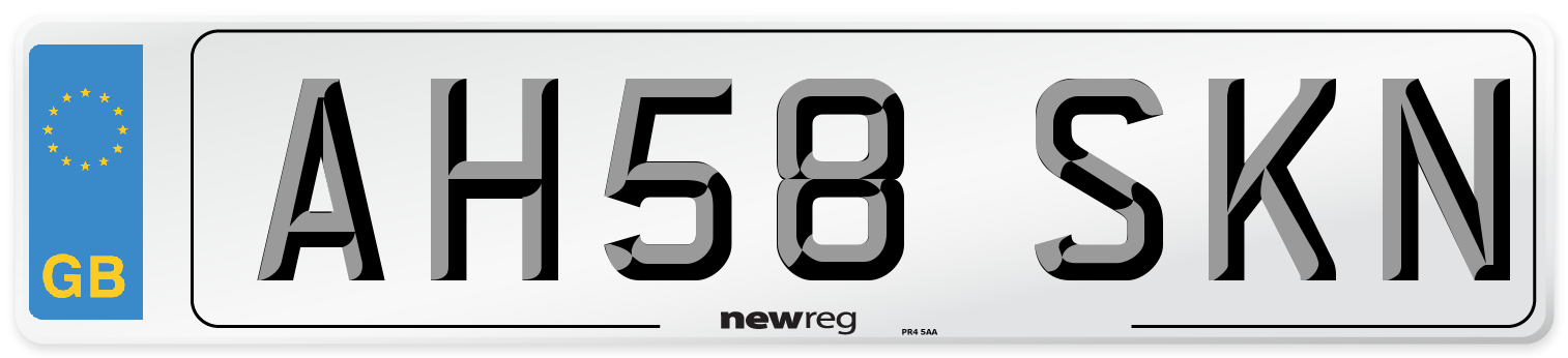 AH58 SKN Number Plate from New Reg