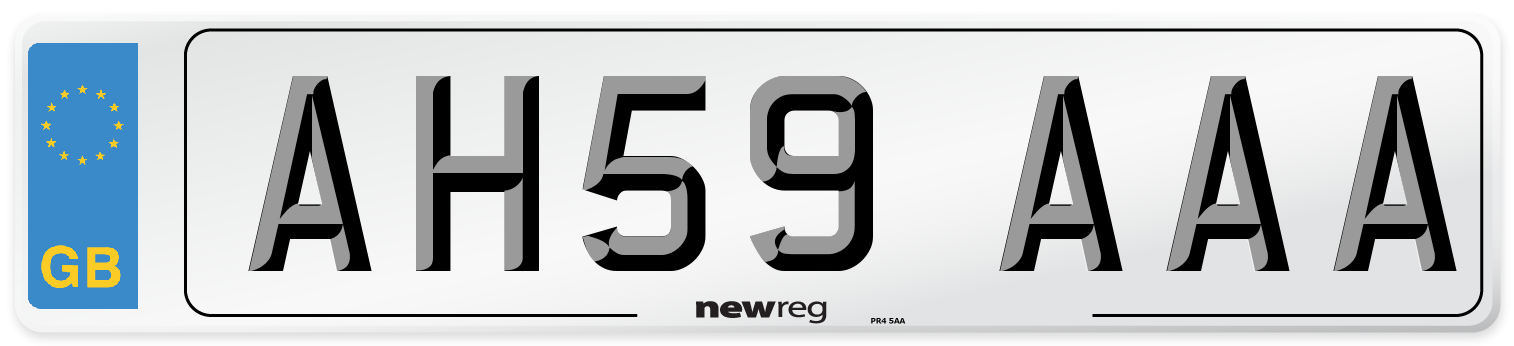 AH59 AAA Number Plate from New Reg