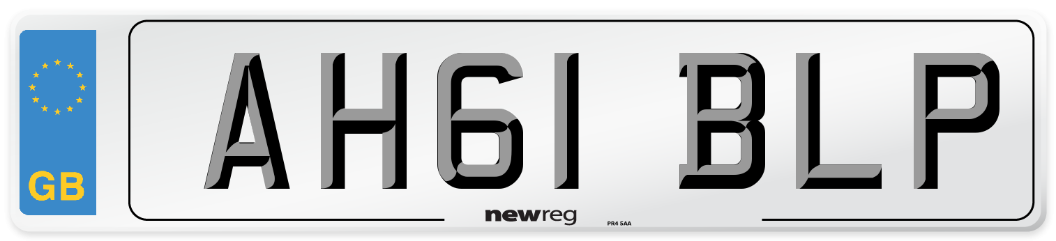 AH61 BLP Number Plate from New Reg