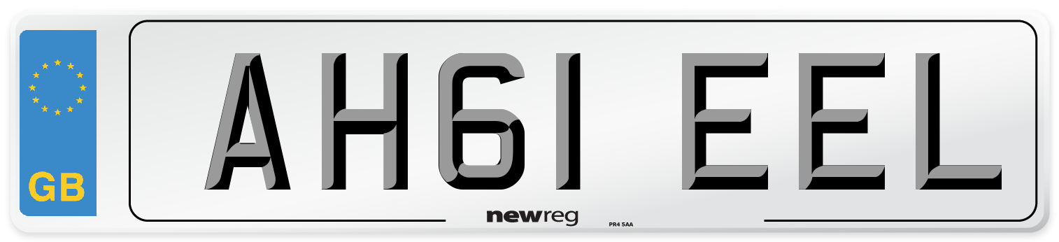 AH61 EEL Number Plate from New Reg