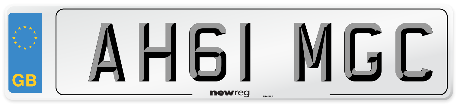 AH61 MGC Number Plate from New Reg
