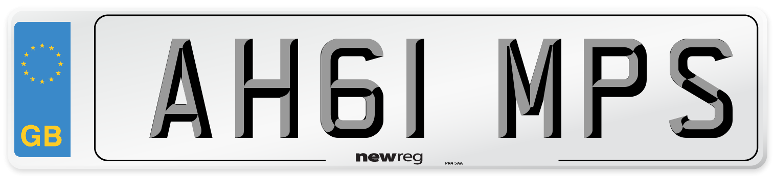 AH61 MPS Number Plate from New Reg
