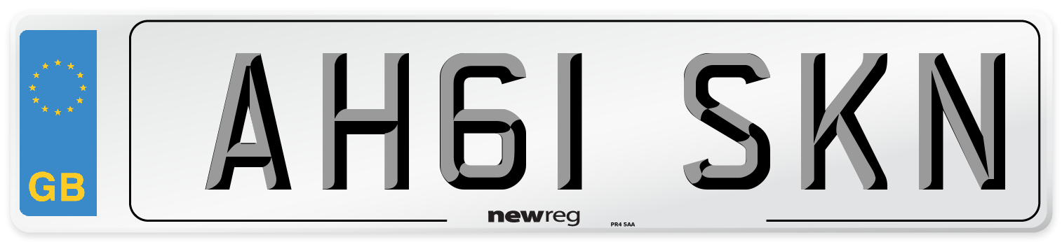 AH61 SKN Number Plate from New Reg