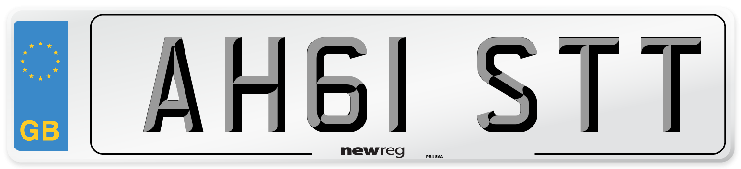 AH61 STT Number Plate from New Reg